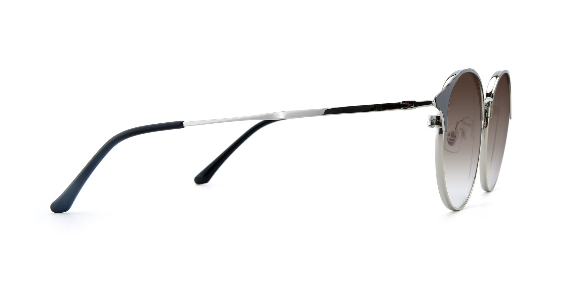 Side of XC-8031 in Black-Silver with Brown Gradient Lenses