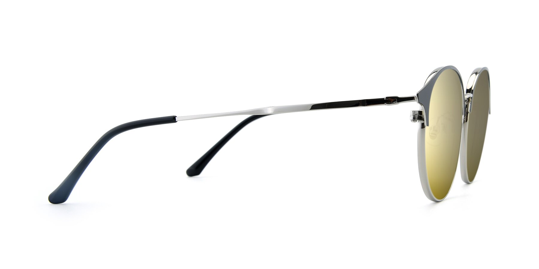 Side of XC-8031 in Black-Silver with Gold Mirrored Lenses