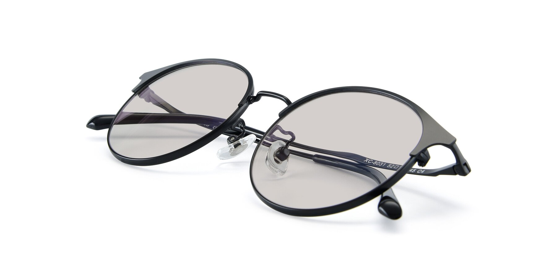 View of XC-8031 in Matte Black with Light Brown Tinted Lenses