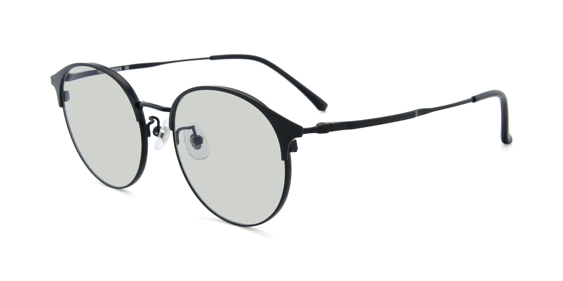 Angle of XC-8031 in Matte Black with Light Green Tinted Lenses