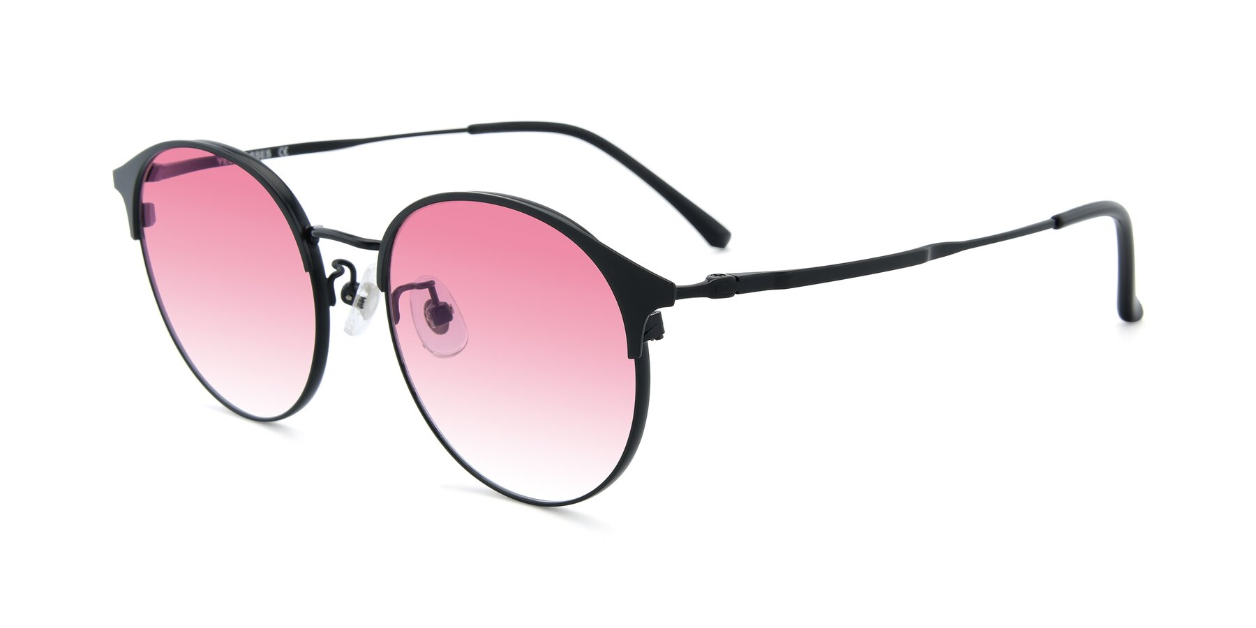 Angle of XC-8031 in Matte Black with Pink Gradient Lenses