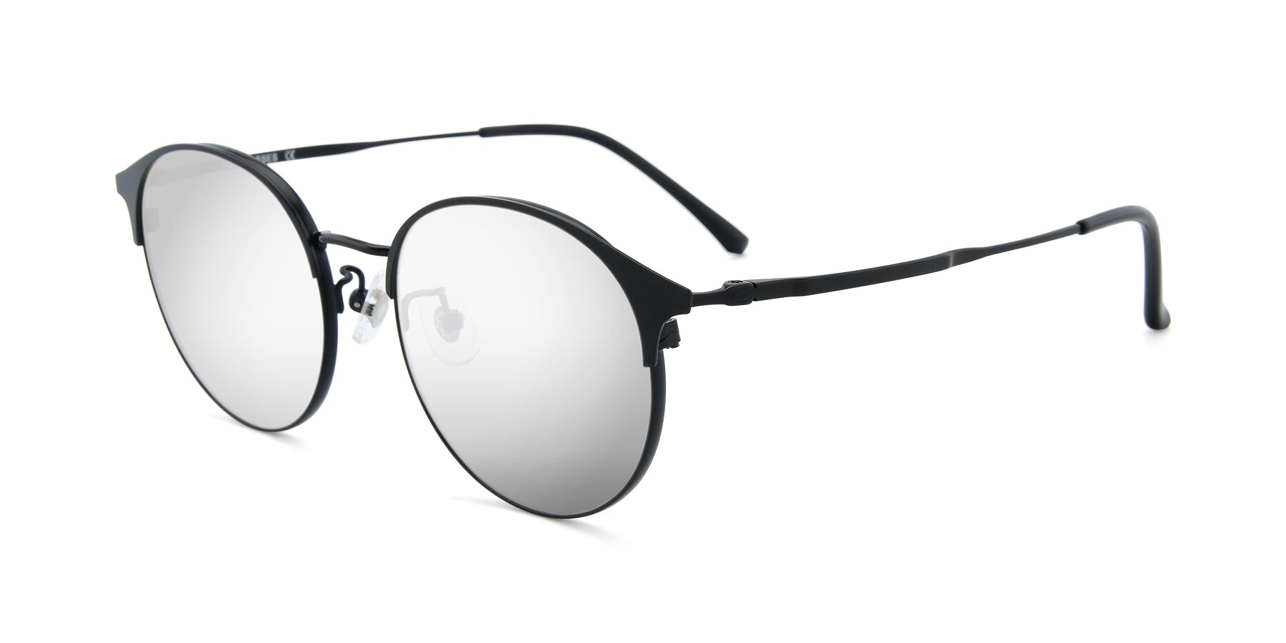 Angle of XC-8031 in Matte Black with Silver Mirrored Lenses