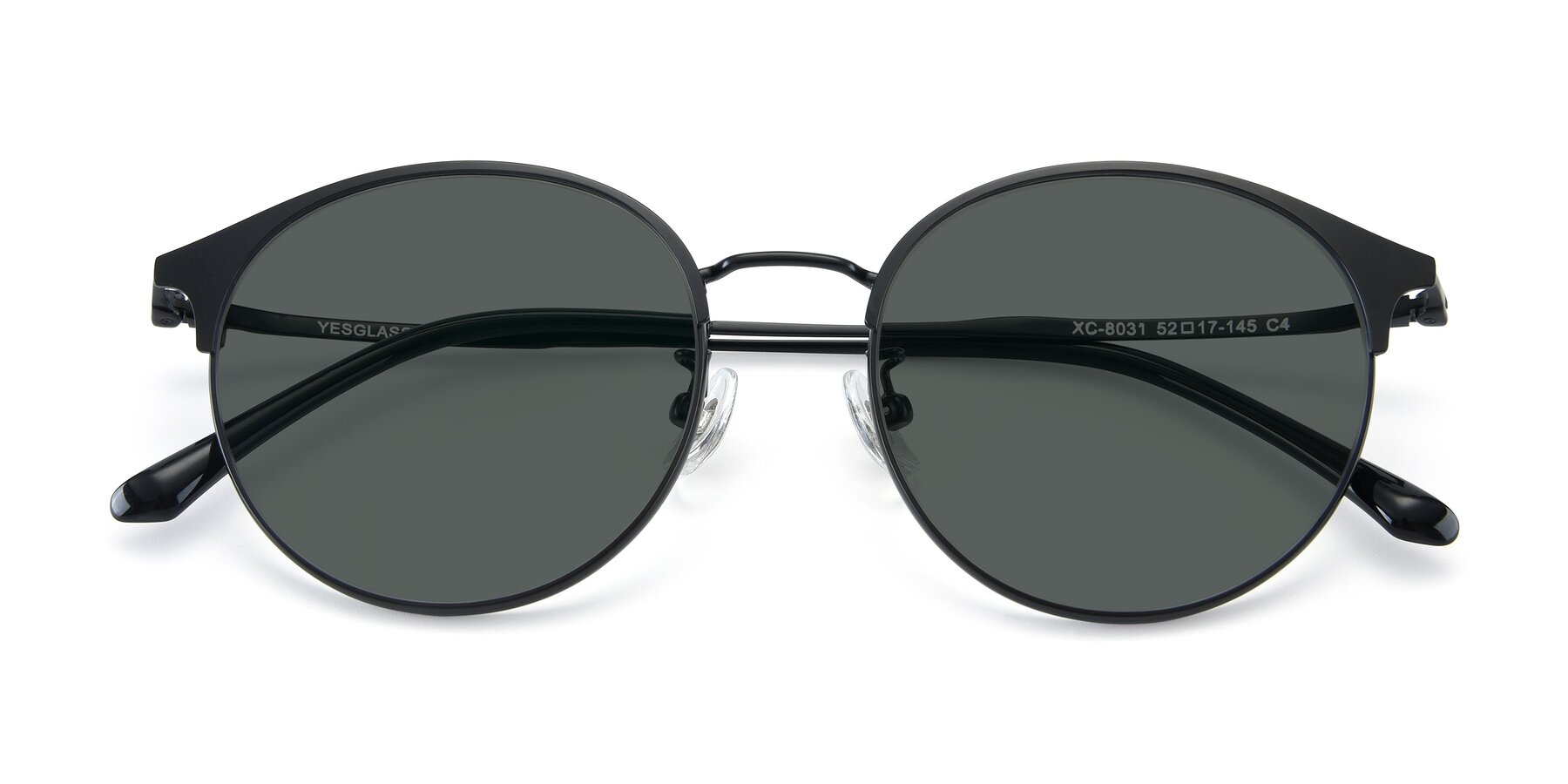 Folded Front of XC-8031 in Matte Black with Gray Polarized Lenses