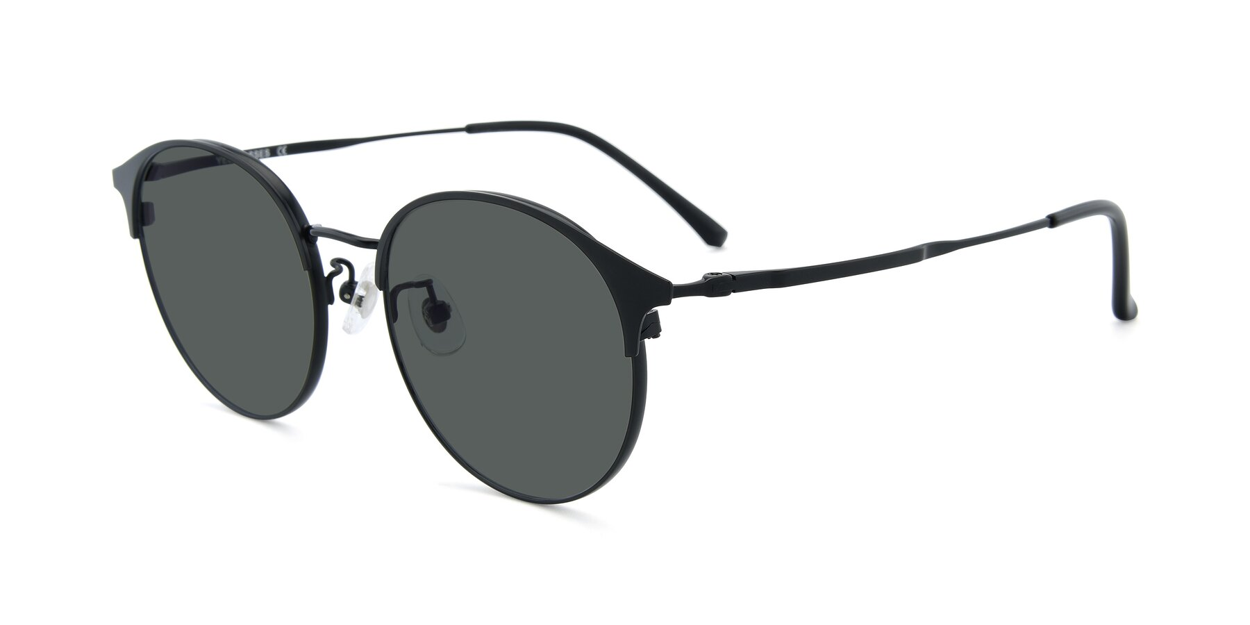 Angle of XC-8031 in Matte Black with Gray Polarized Lenses