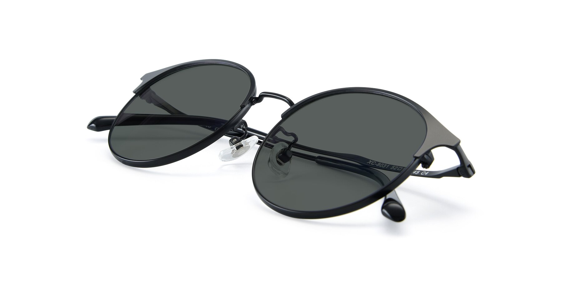 View of XC-8031 in Matte Black with Gray Polarized Lenses