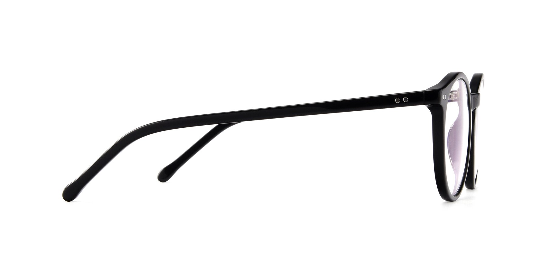 Side of Echo in Black with Clear Blue Light Blocking Lenses