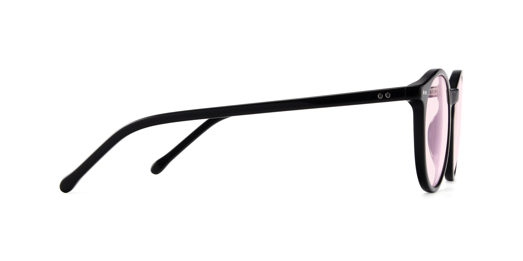 Side of JS9026A in Black with Light Pink Tinted Lenses