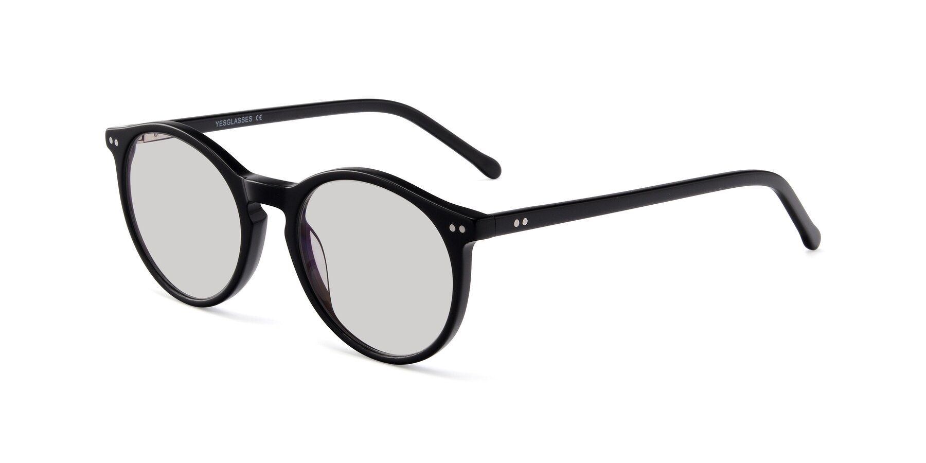 Angle of JS9026A in Black with Light Gray Tinted Lenses