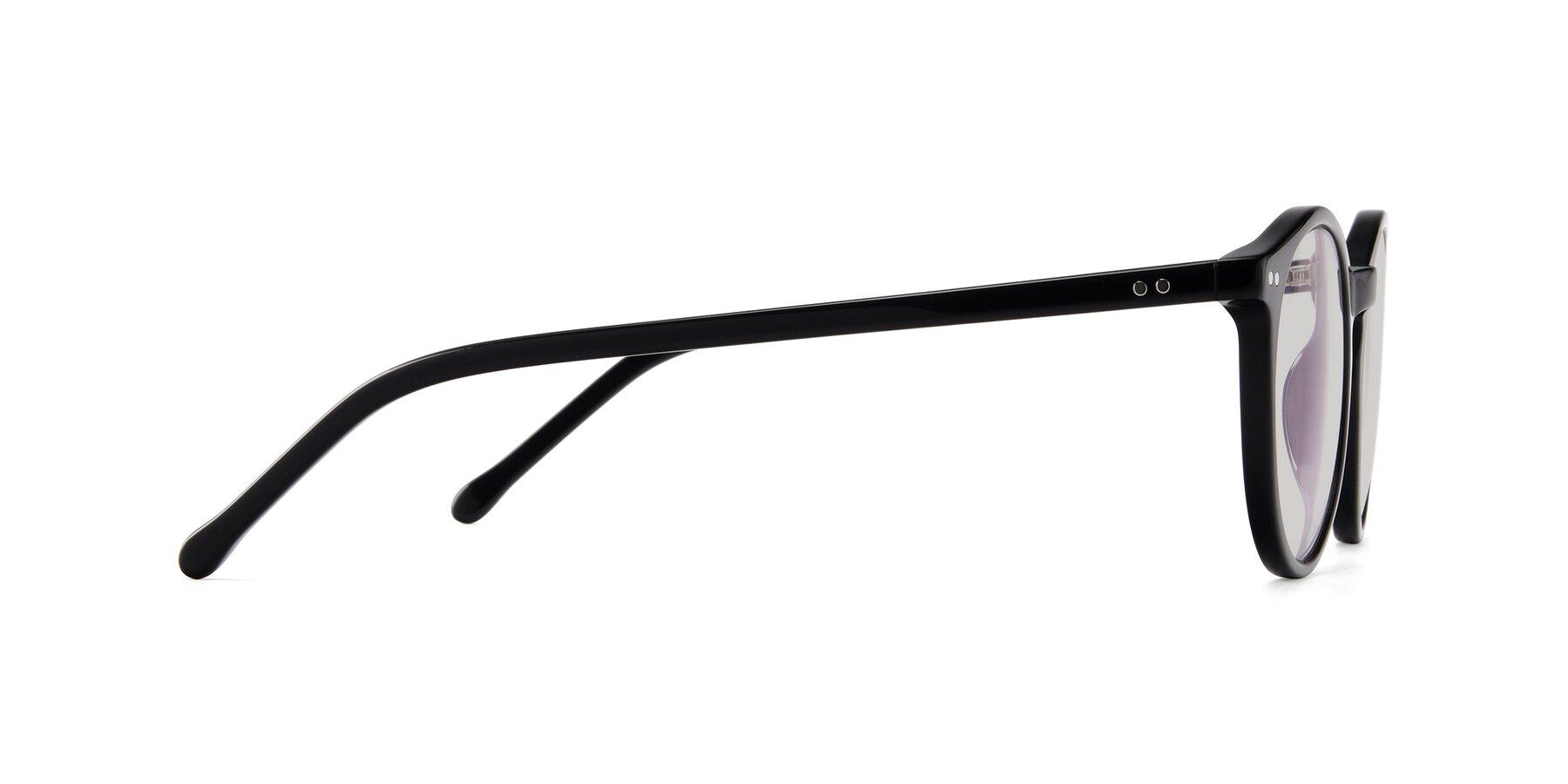 Side of JS9026A in Black with Light Gray Tinted Lenses