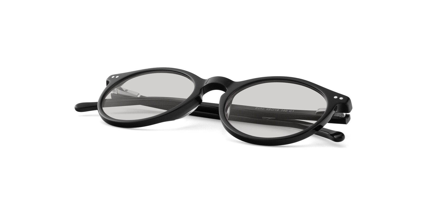 View of JS9026A in Black with Light Gray Tinted Lenses