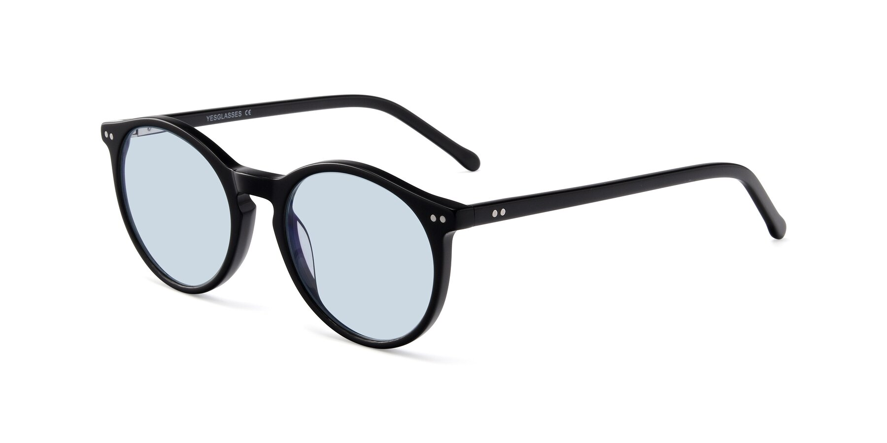 Angle of JS9026A in Black with Light Blue Tinted Lenses