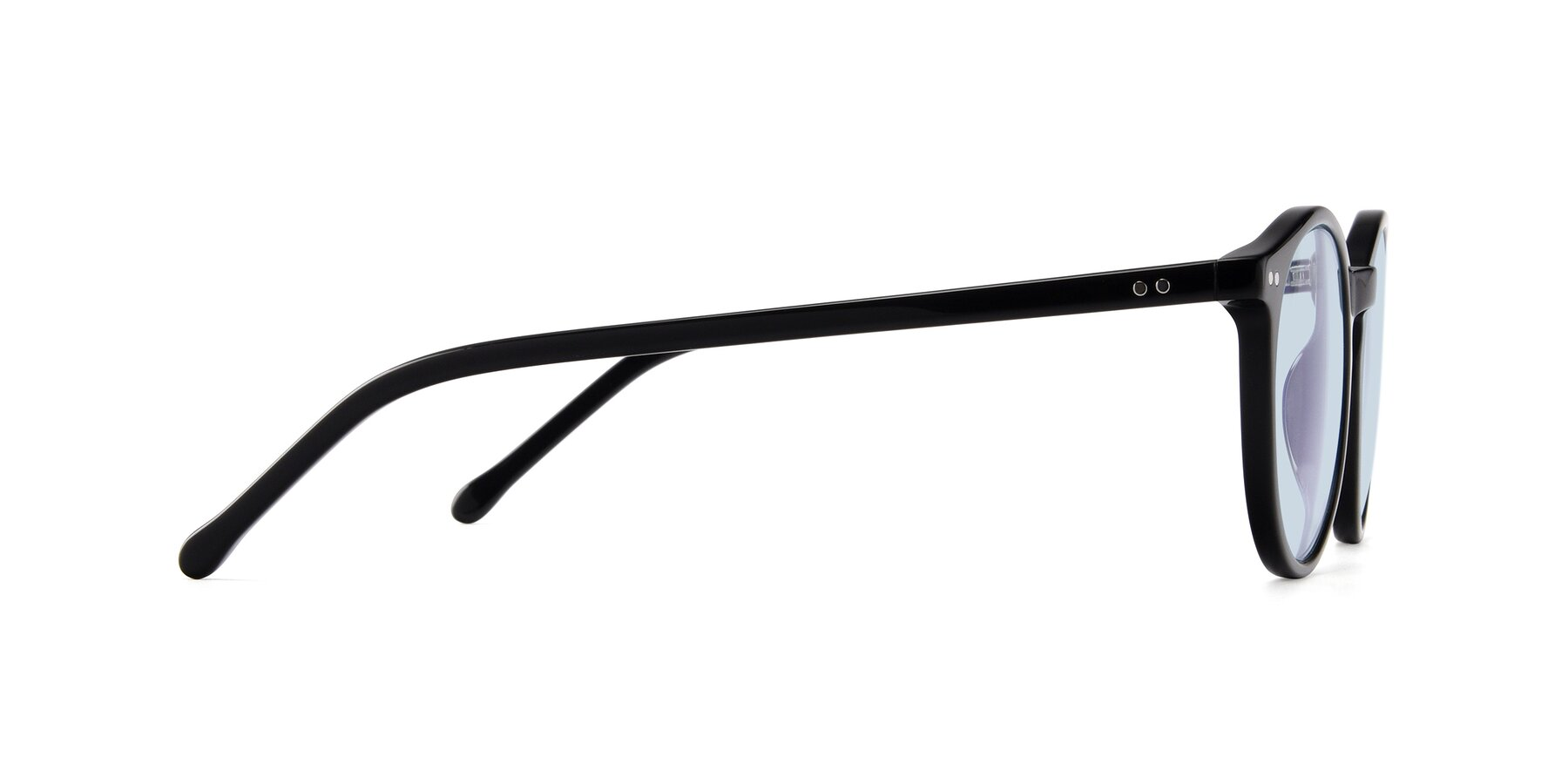 Side of JS9026A in Black with Light Blue Tinted Lenses