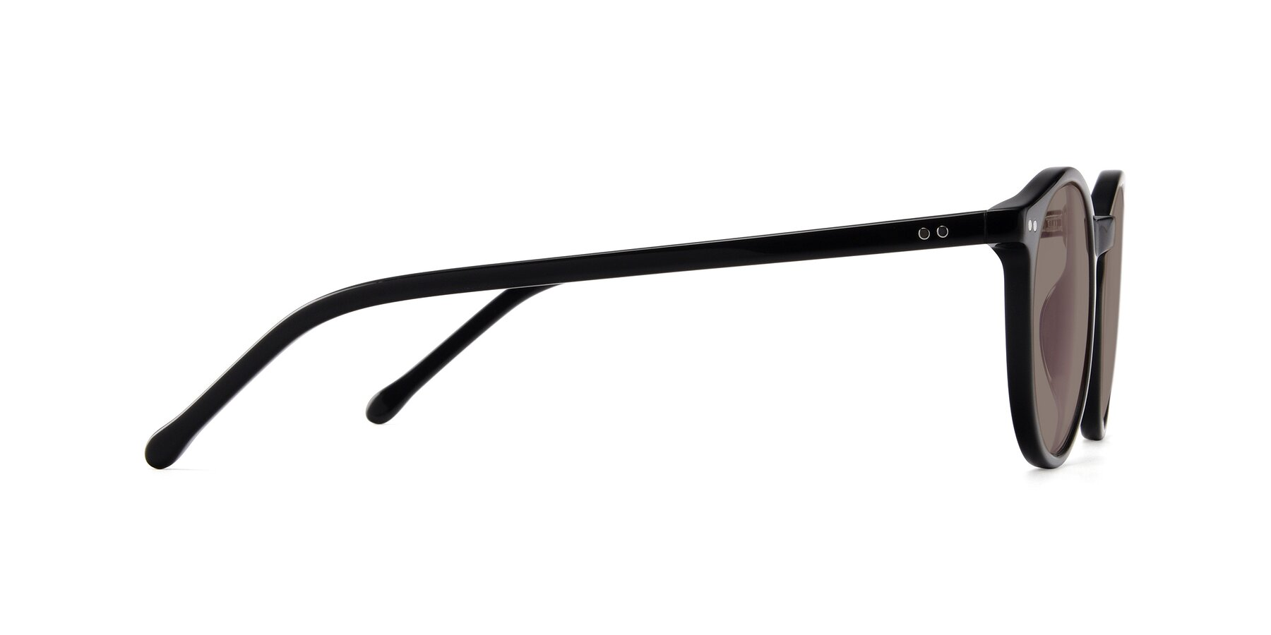 Side of JS9026A in Black with Medium Brown Tinted Lenses