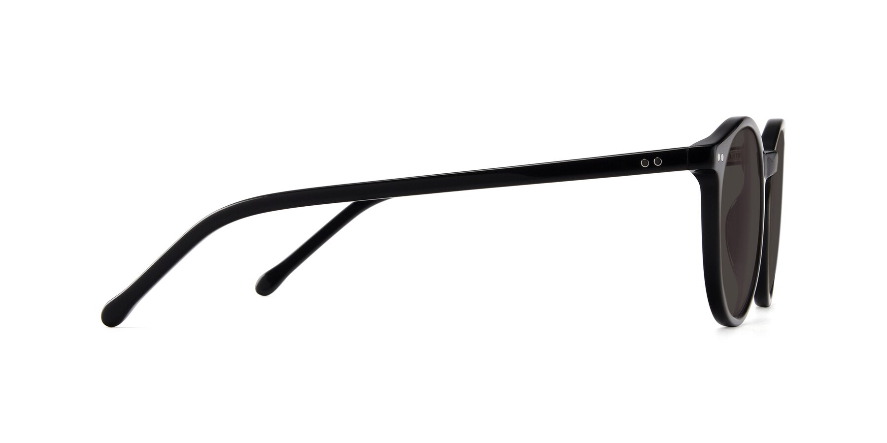 Side of JS9026A in Black with Gray Tinted Lenses