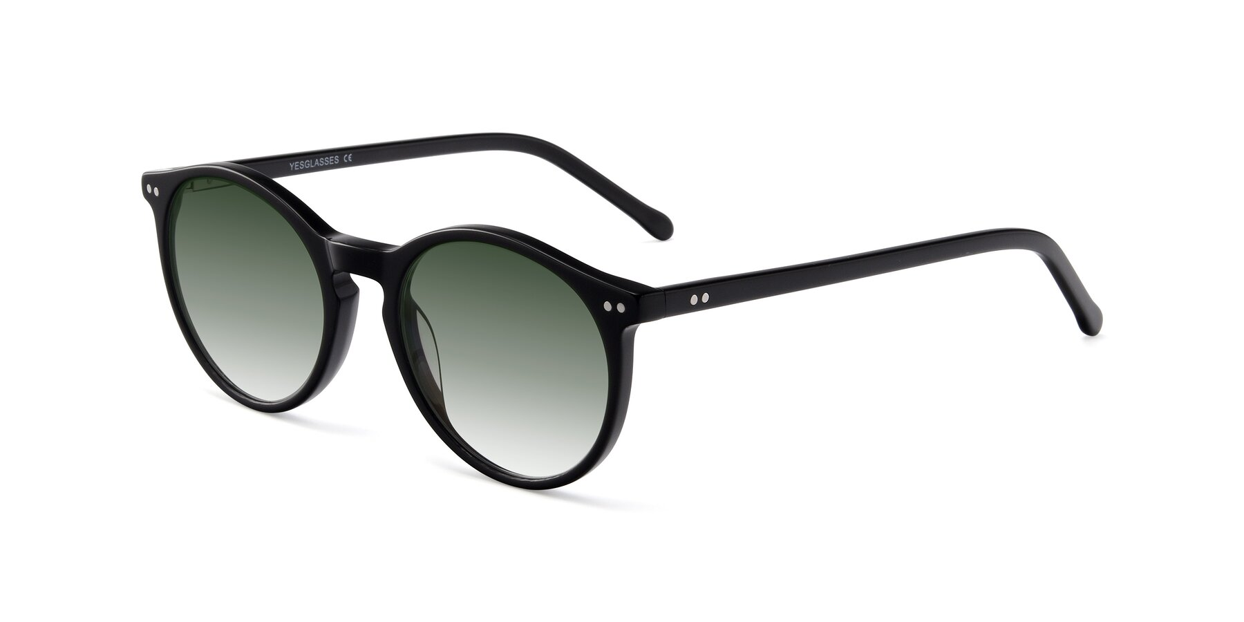 Angle of JS9026A in Black with Green Gradient Lenses