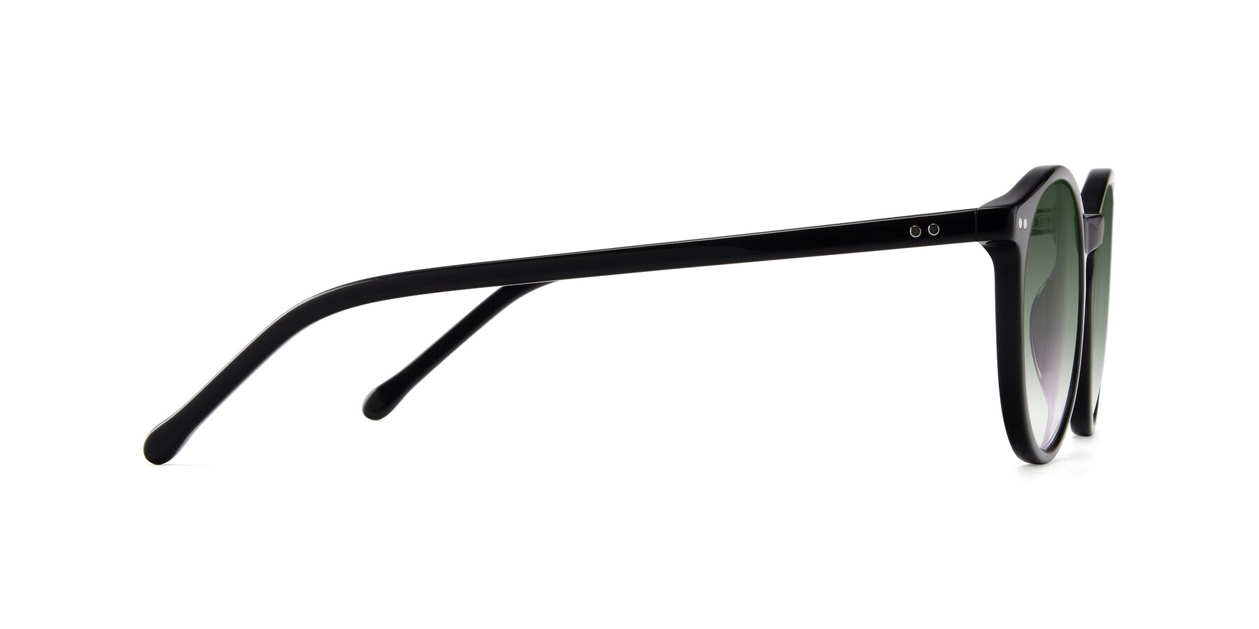 Side of JS9026A in Black with Green Gradient Lenses