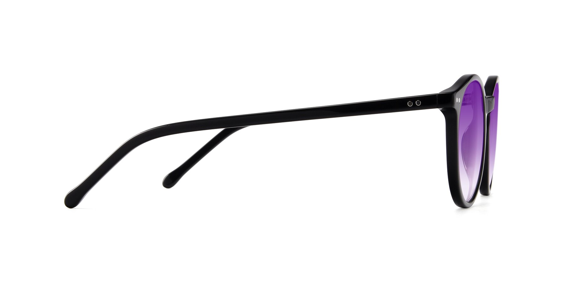 Side of JS9026A in Black with Purple Gradient Lenses