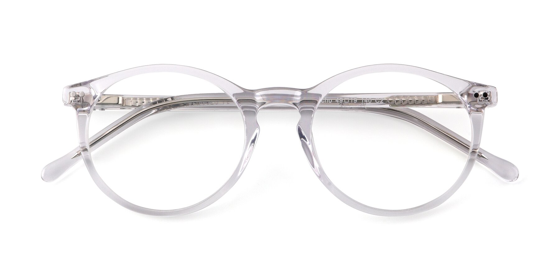 Folded Front of Echo in Clear with Clear Eyeglass Lenses