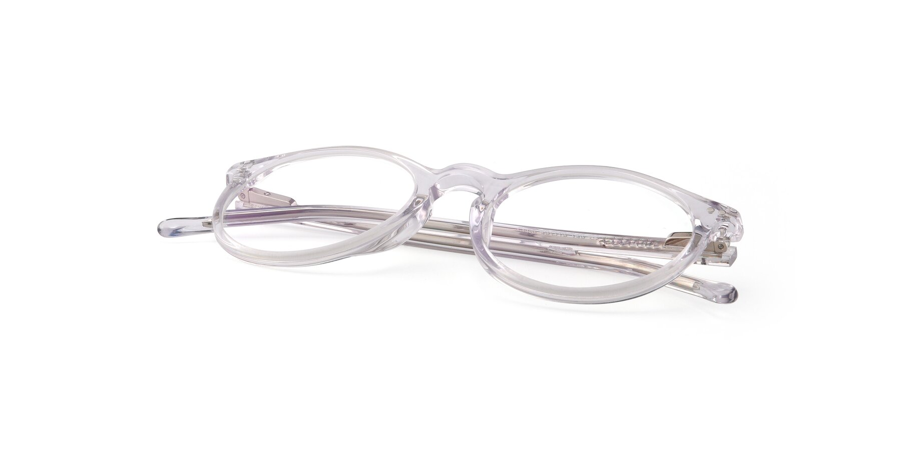 View of Echo in Clear with Clear Eyeglass Lenses