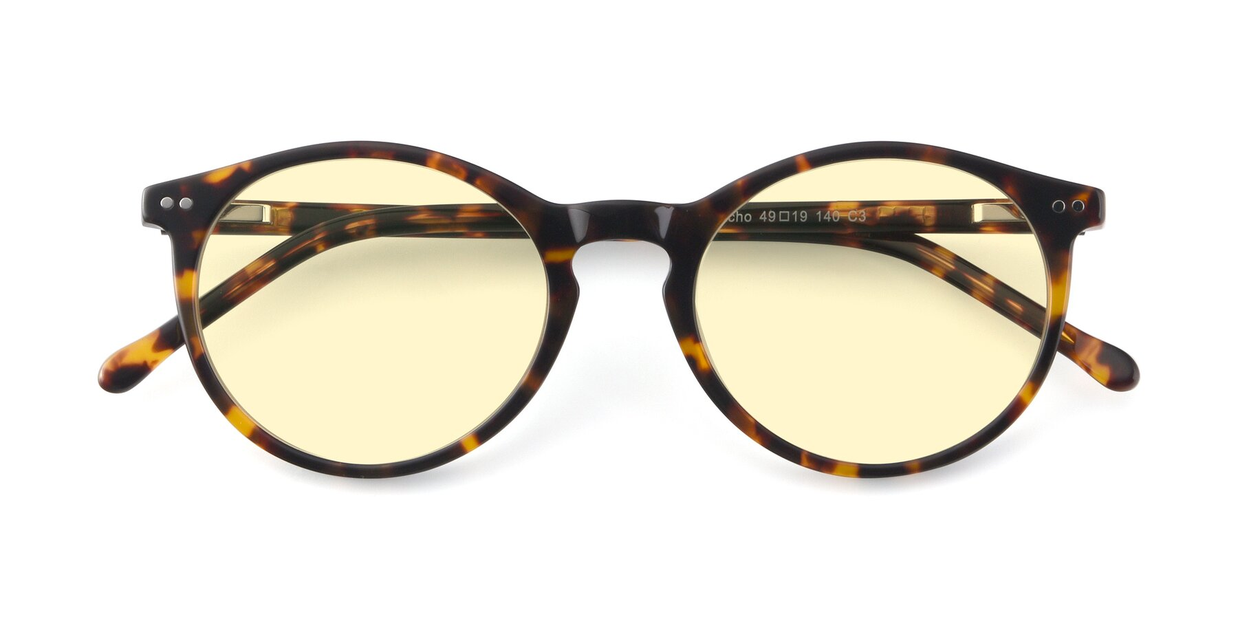 Folded Front of JS9026A in Tortoise with Light Yellow Tinted Lenses