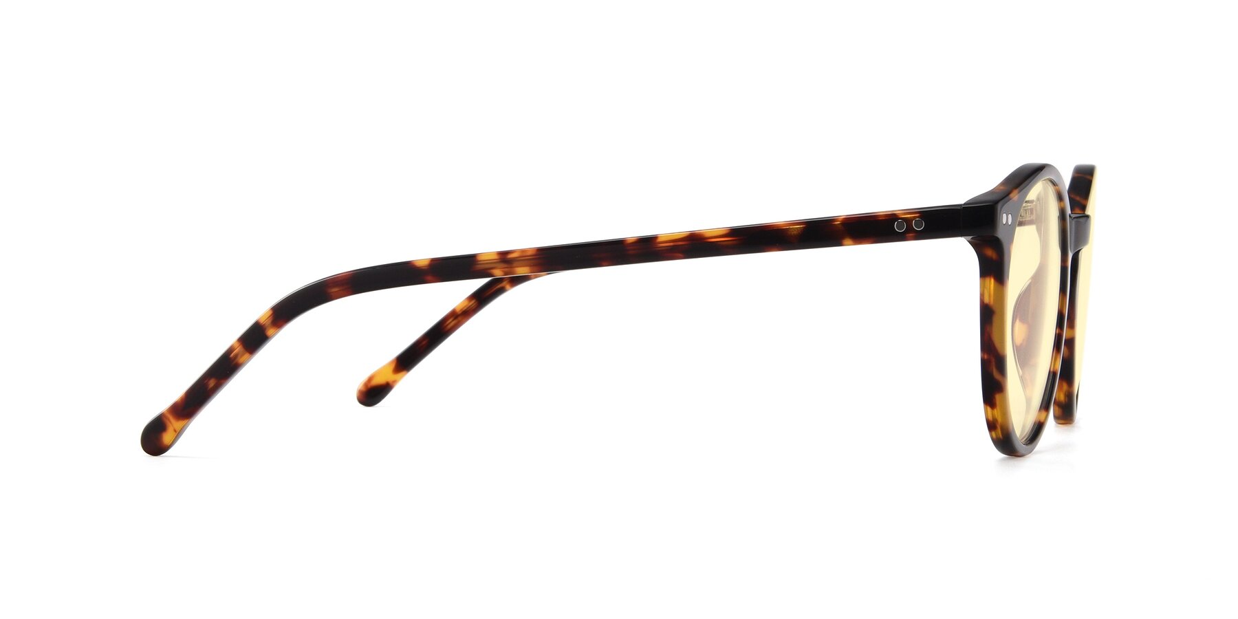 Side of JS9026A in Tortoise with Light Yellow Tinted Lenses