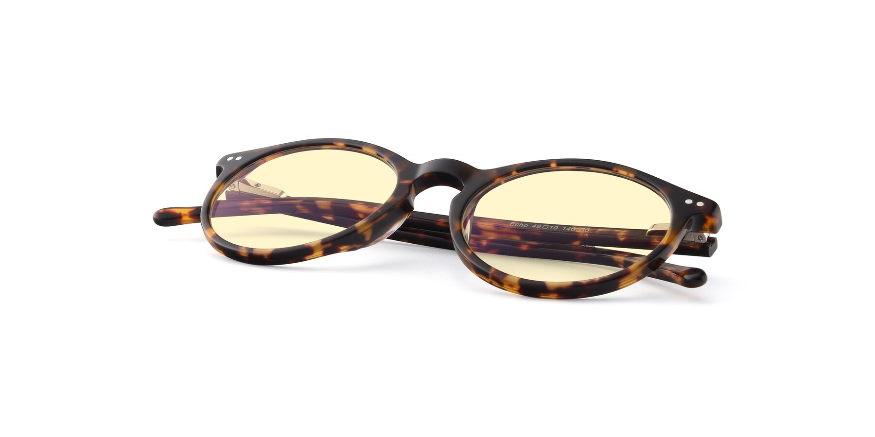 View of JS9026A in Tortoise with Light Yellow Tinted Lenses