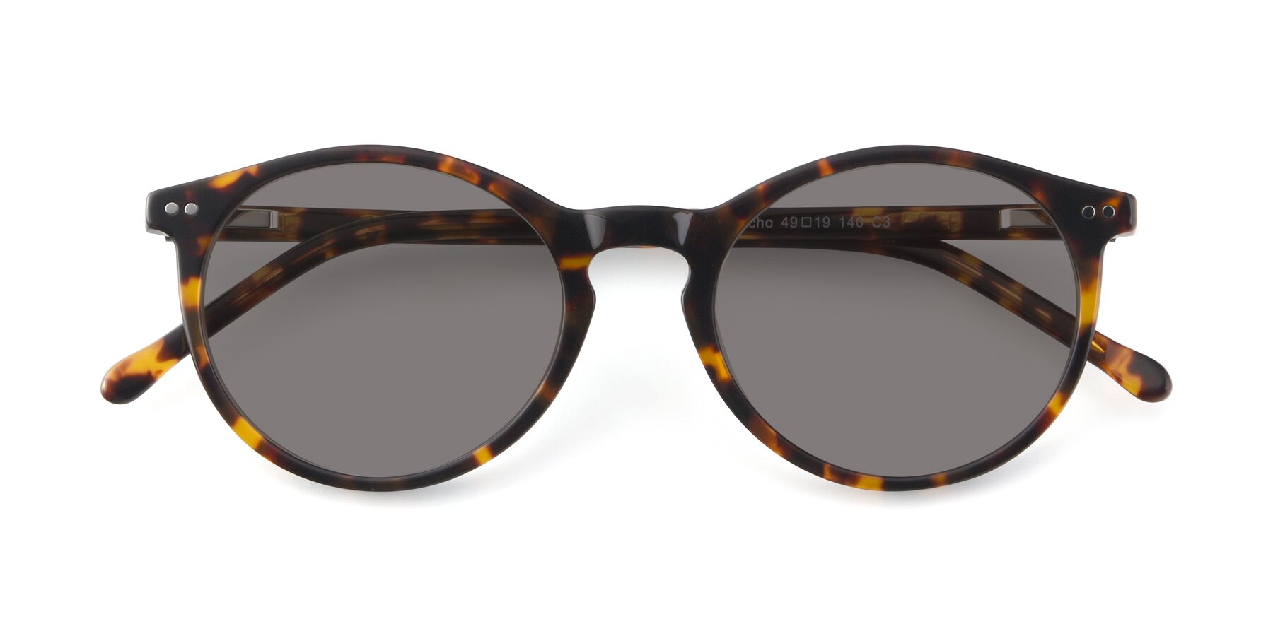 Folded Front of JS9026A in Tortoise with Medium Gray Tinted Lenses