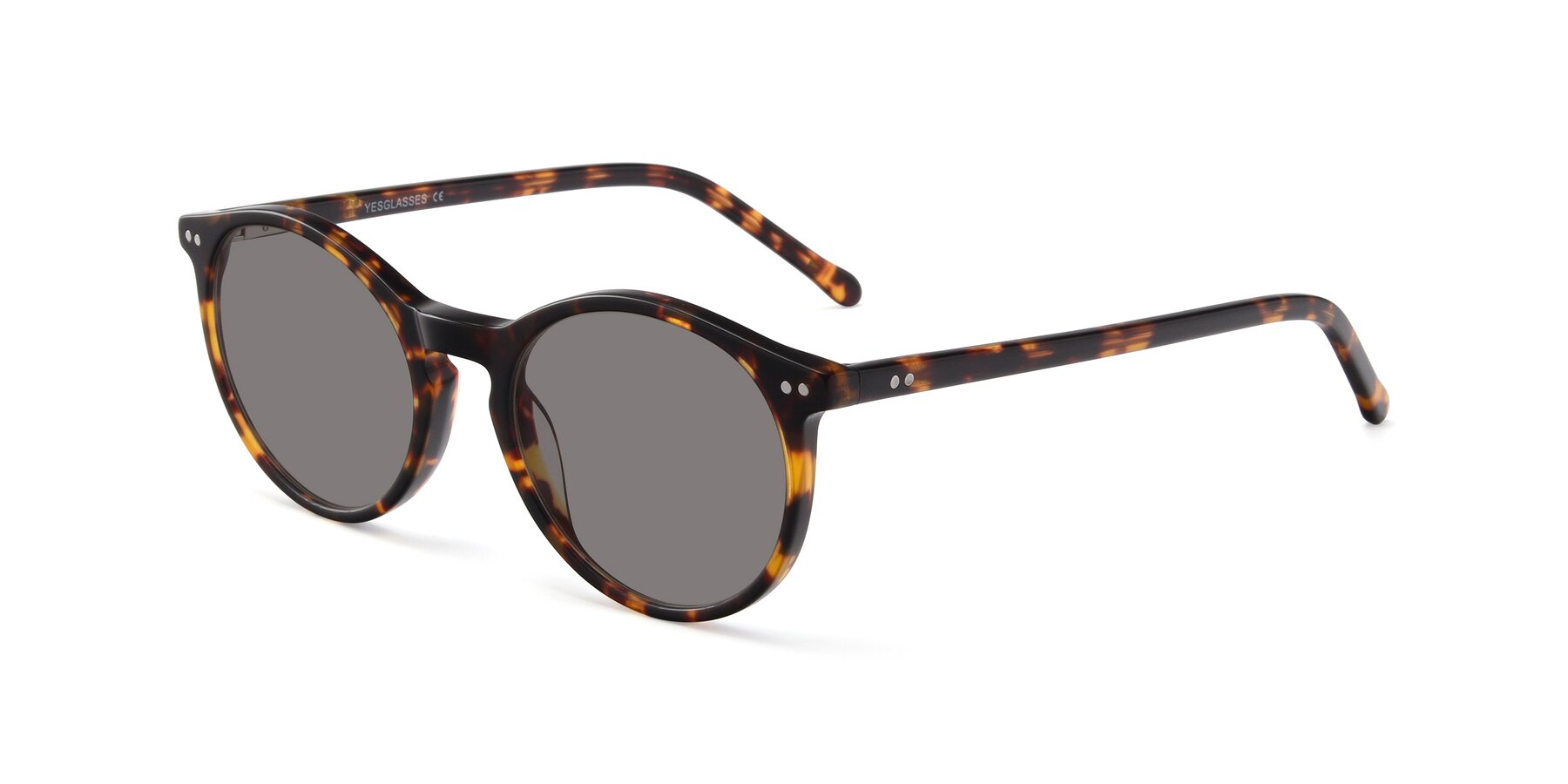 Angle of JS9026A in Tortoise with Medium Gray Tinted Lenses
