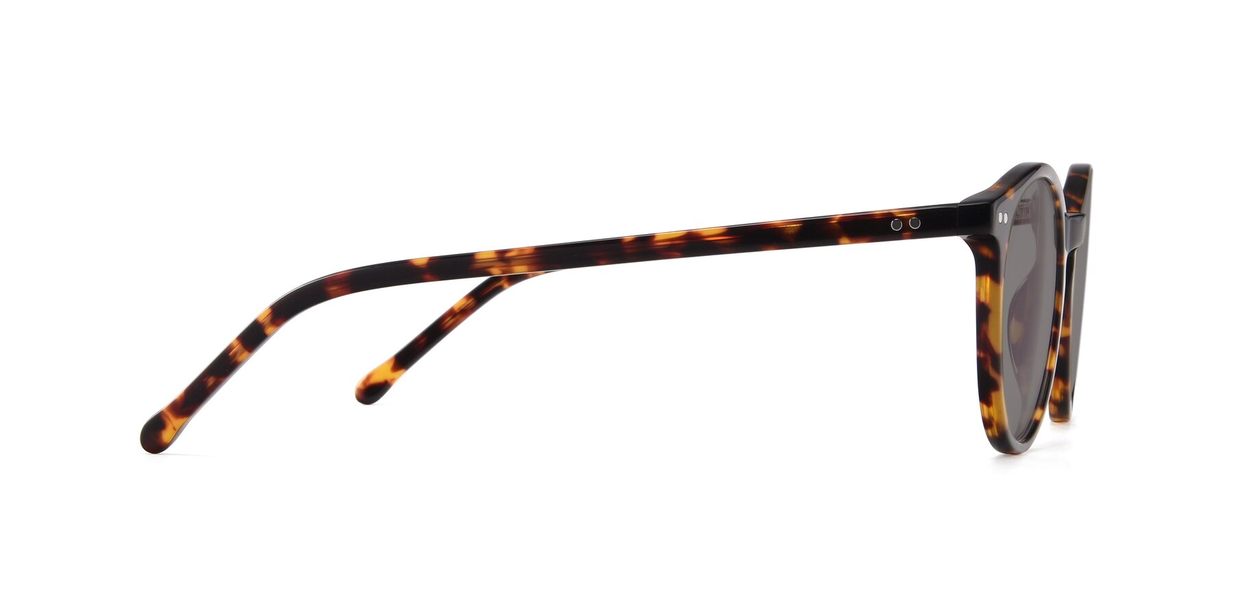 Side of JS9026A in Tortoise with Medium Gray Tinted Lenses