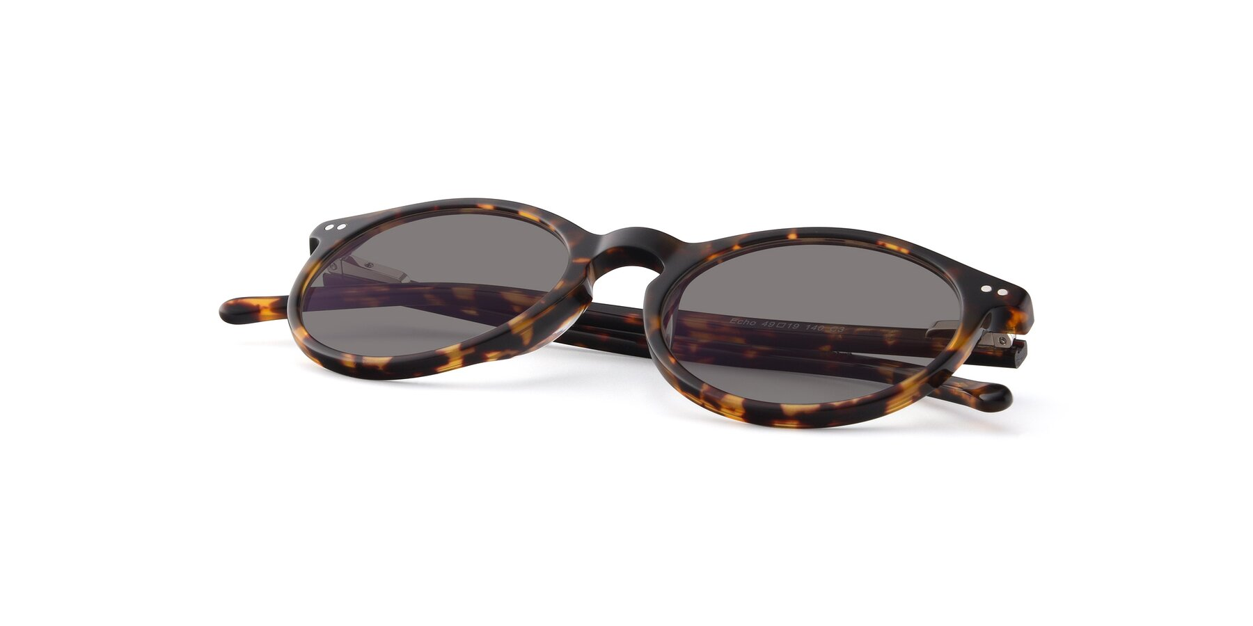 View of JS9026A in Tortoise with Medium Gray Tinted Lenses