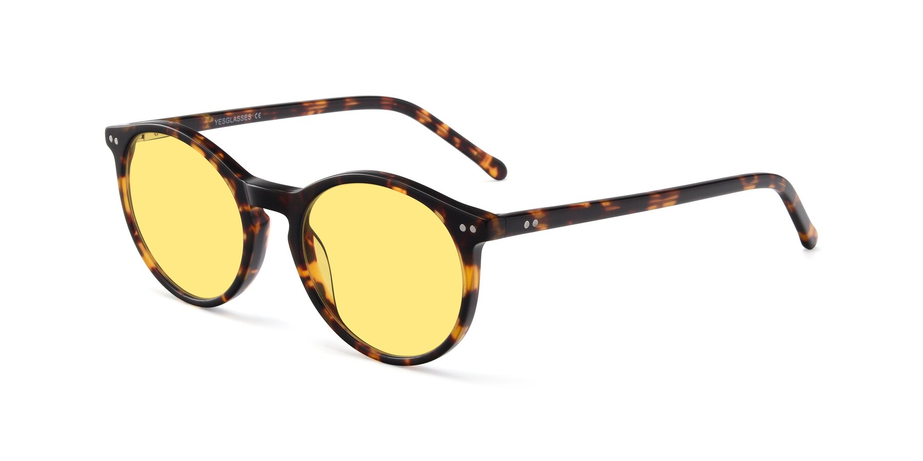 Angle of JS9026A in Tortoise with Medium Yellow Tinted Lenses