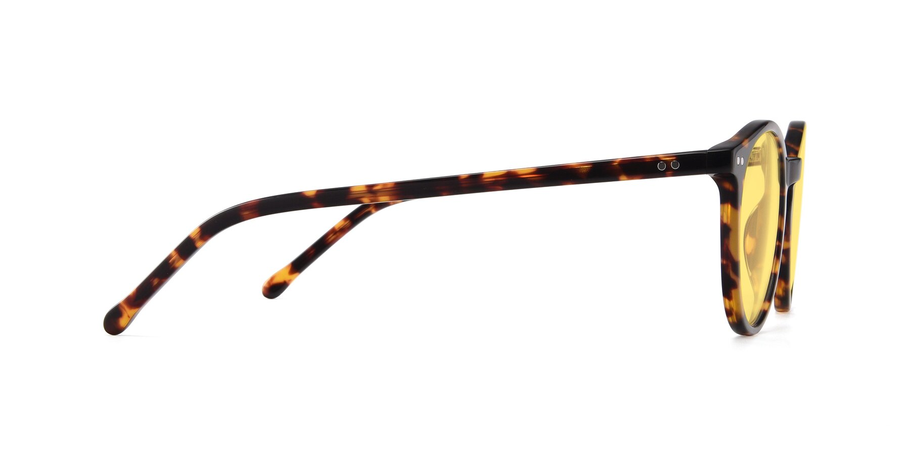 Side of JS9026A in Tortoise with Medium Yellow Tinted Lenses