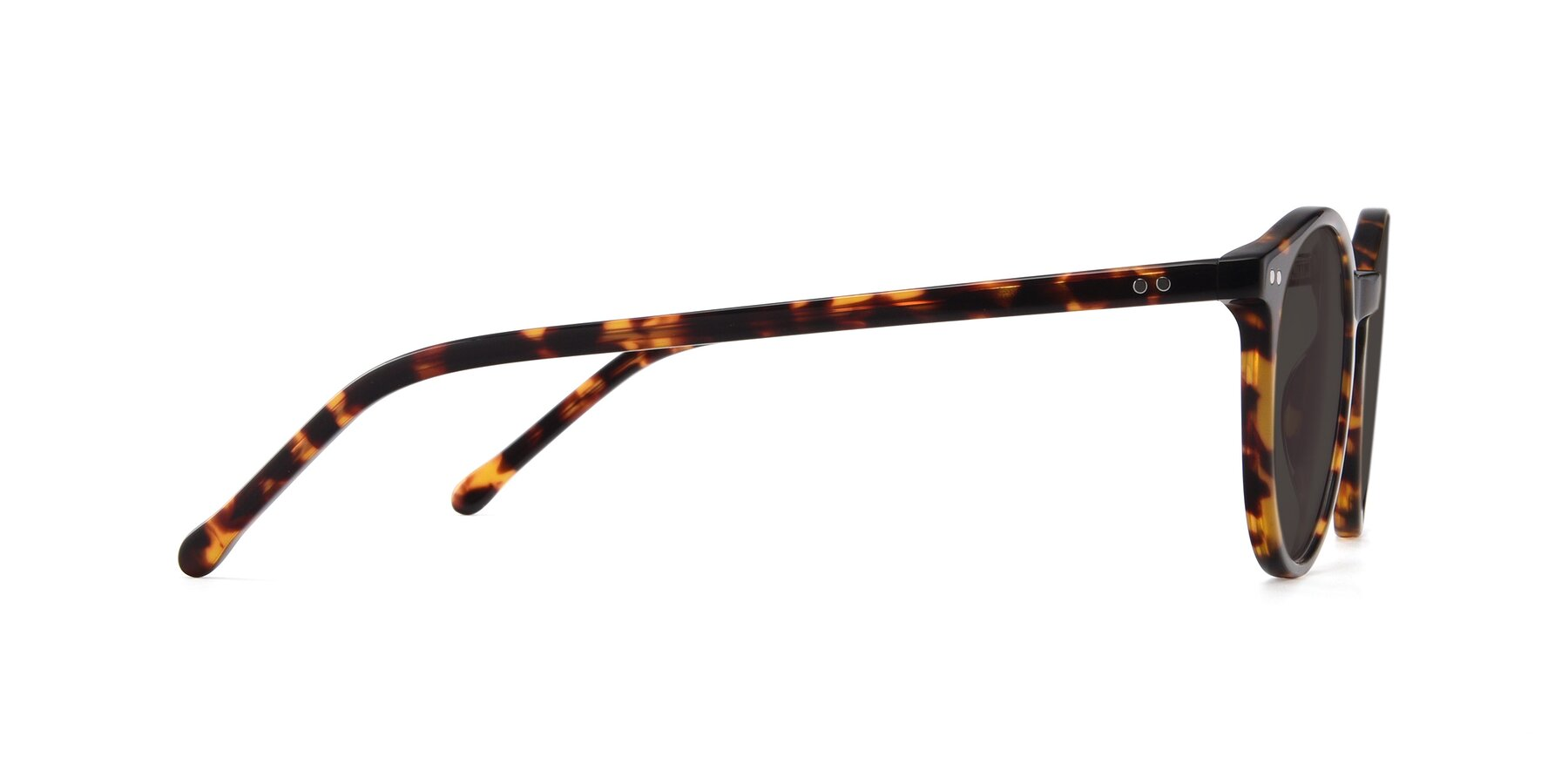 Side of JS9026A in Tortoise with Gray Tinted Lenses