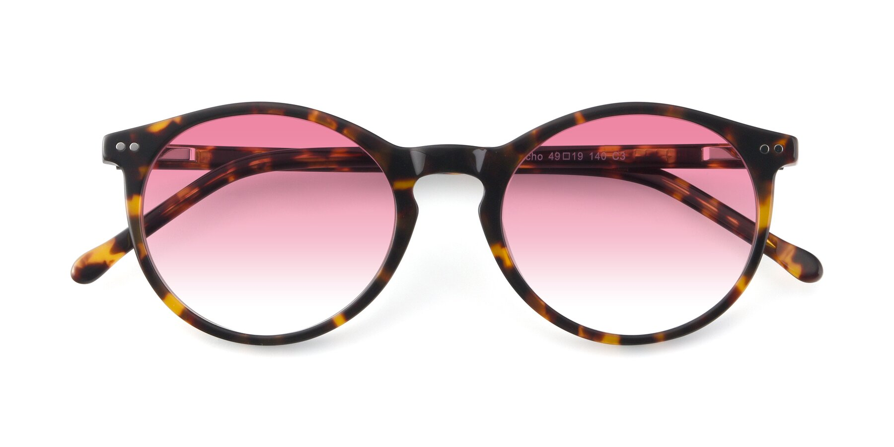 Folded Front of JS9026A in Tortoise with Pink Gradient Lenses