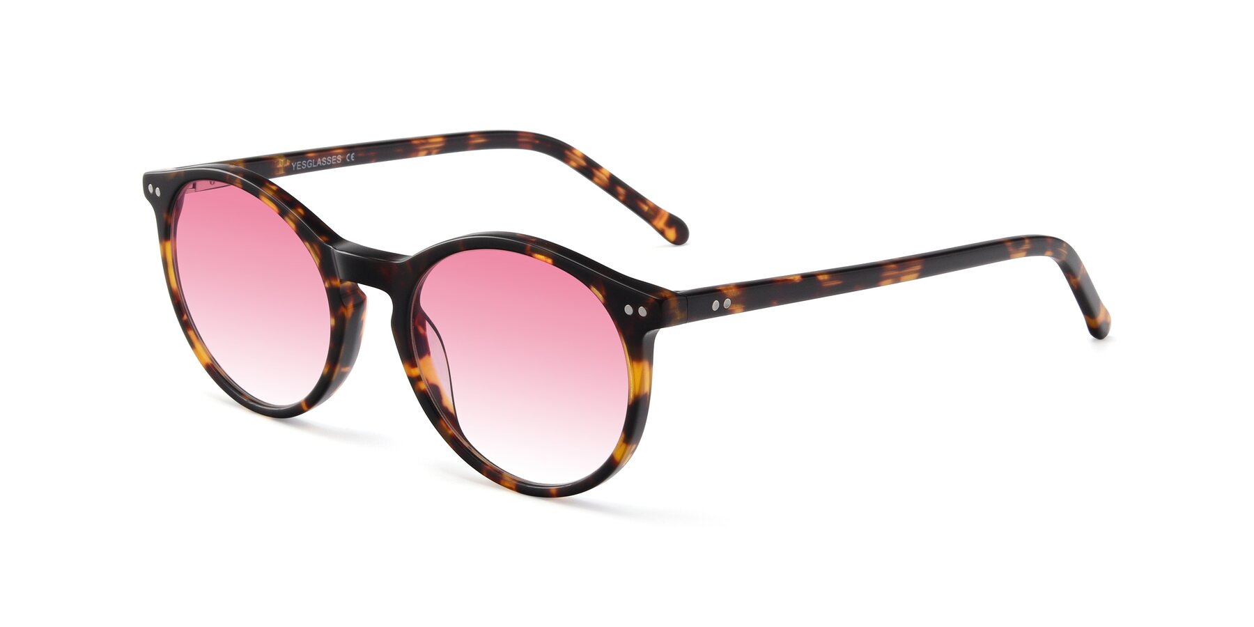 Angle of JS9026A in Tortoise with Pink Gradient Lenses