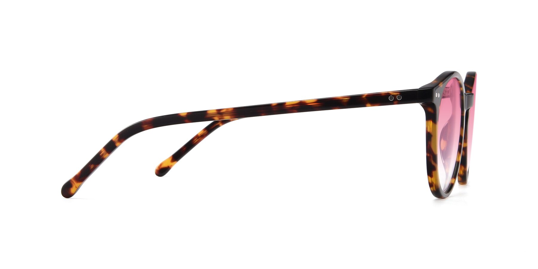 Side of JS9026A in Tortoise with Pink Gradient Lenses
