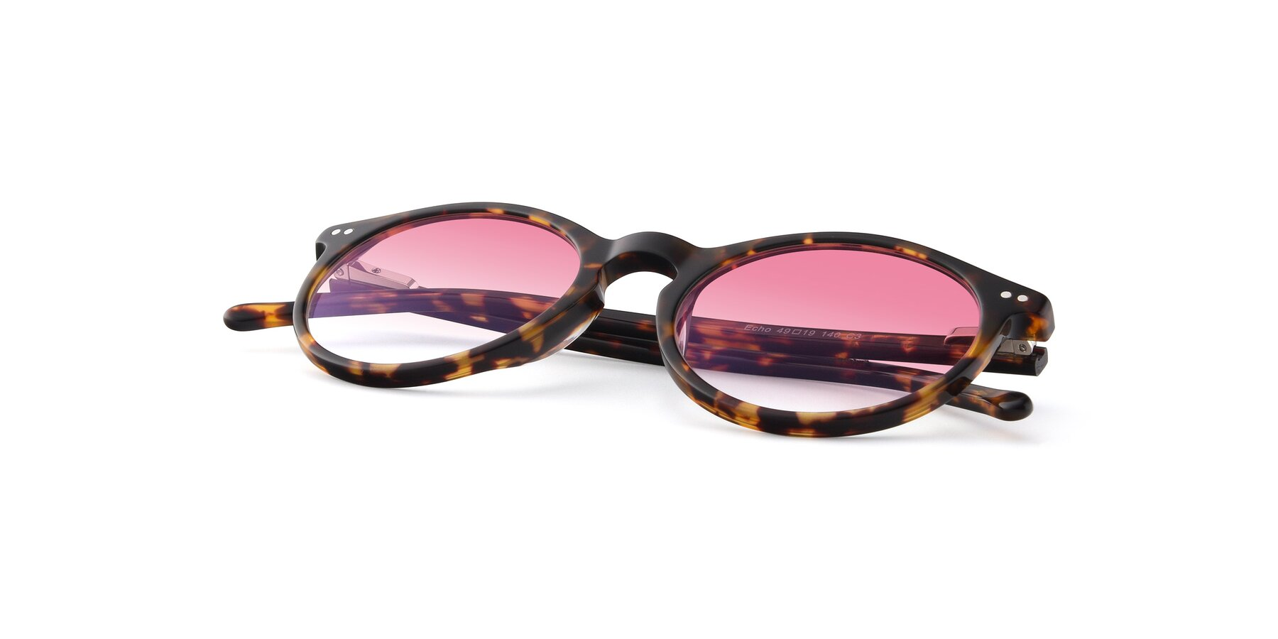View of JS9026A in Tortoise with Pink Gradient Lenses