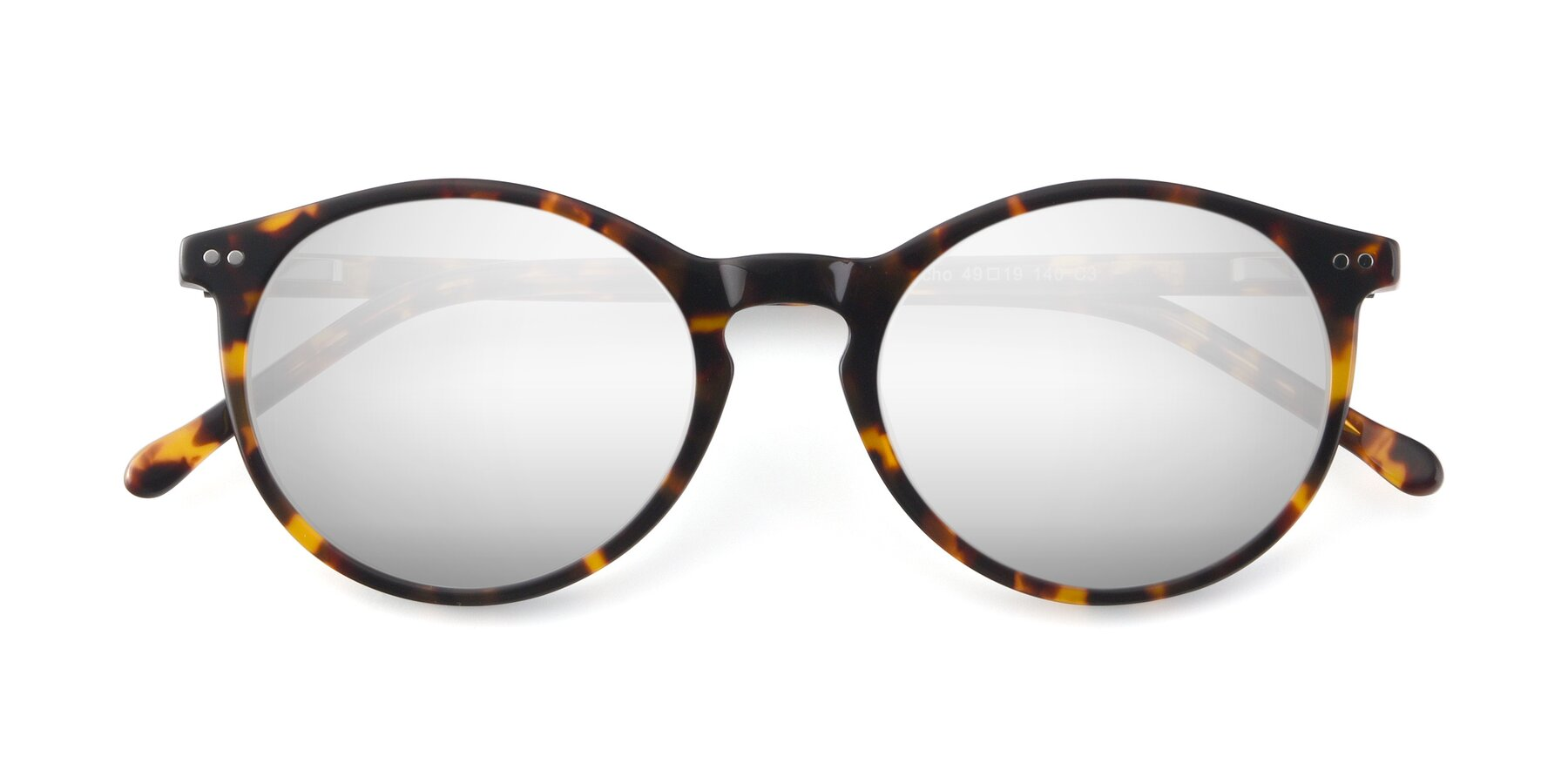 Folded Front of JS9026A in Tortoise with Silver Mirrored Lenses