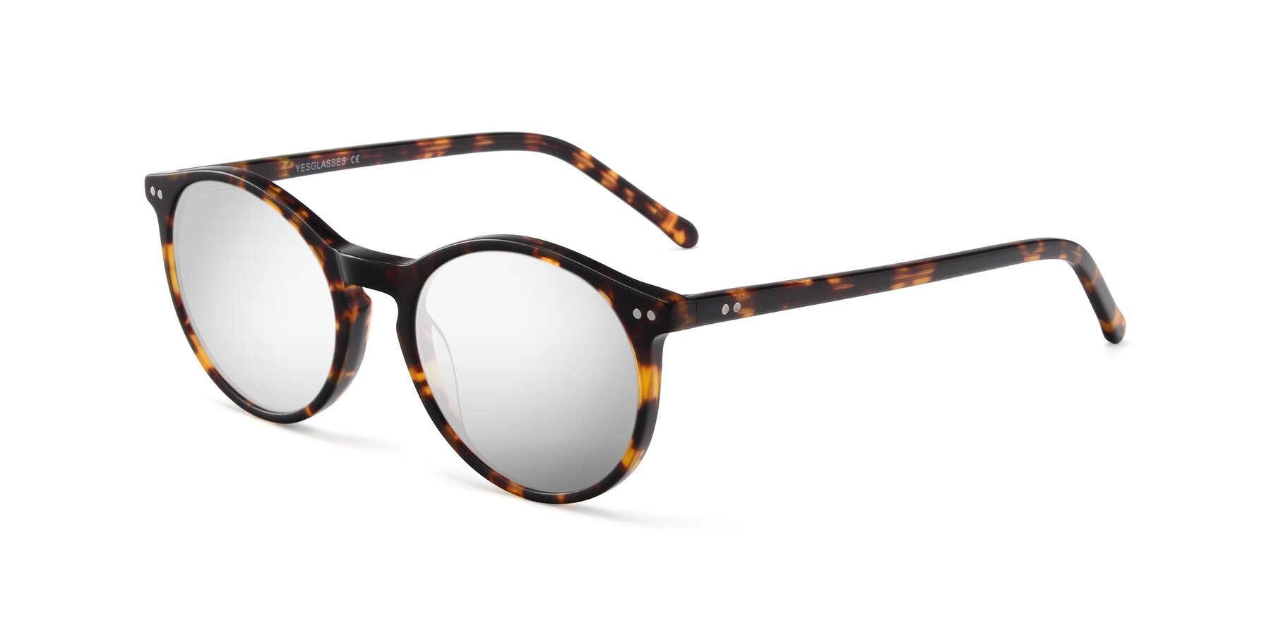 Angle of JS9026A in Tortoise with Silver Mirrored Lenses