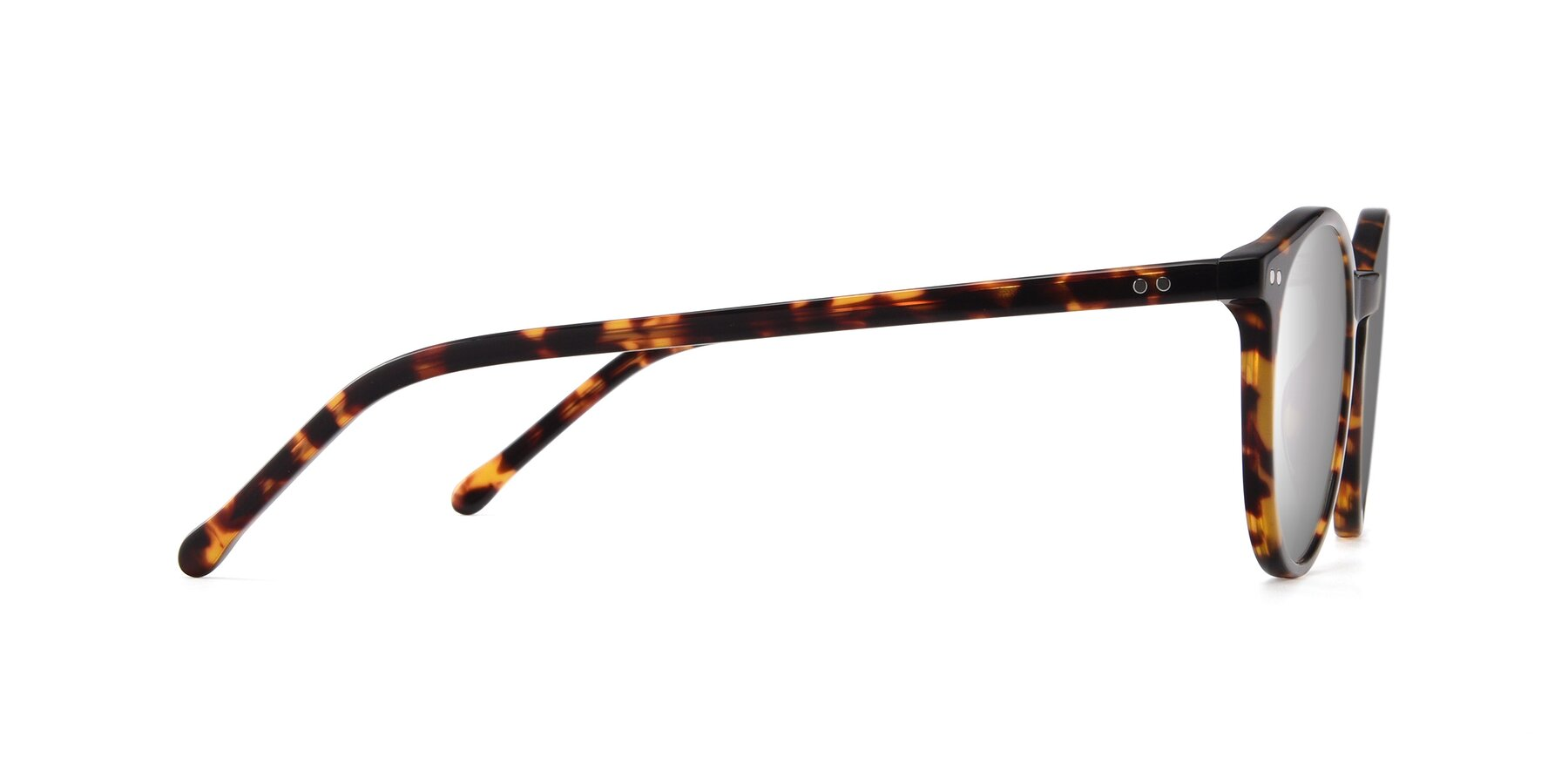 Side of JS9026A in Tortoise with Silver Mirrored Lenses