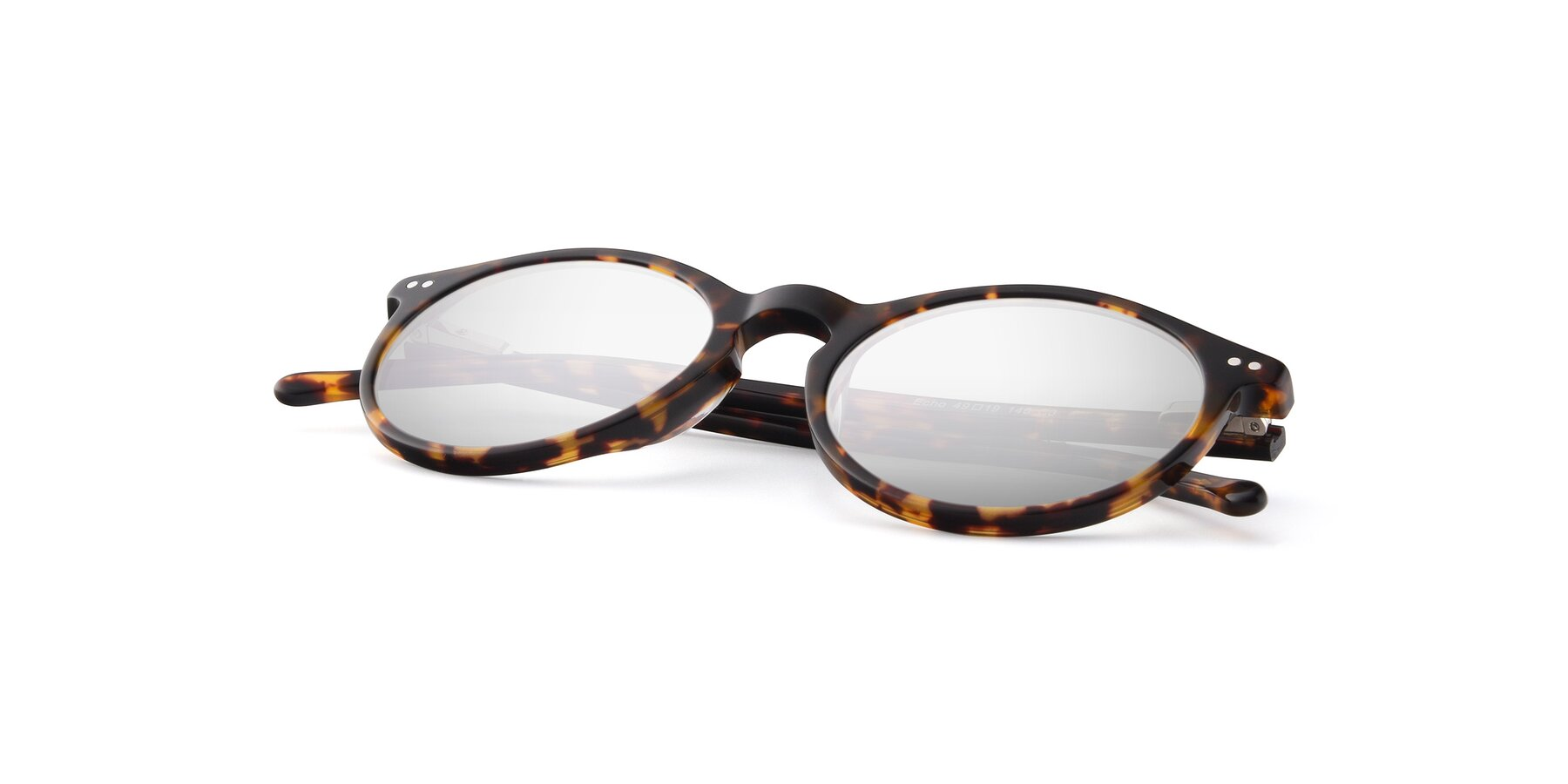 View of JS9026A in Tortoise with Silver Mirrored Lenses