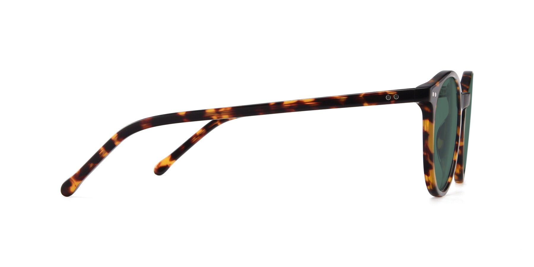 Side of JS9026A in Tortoise with Green Polarized Lenses