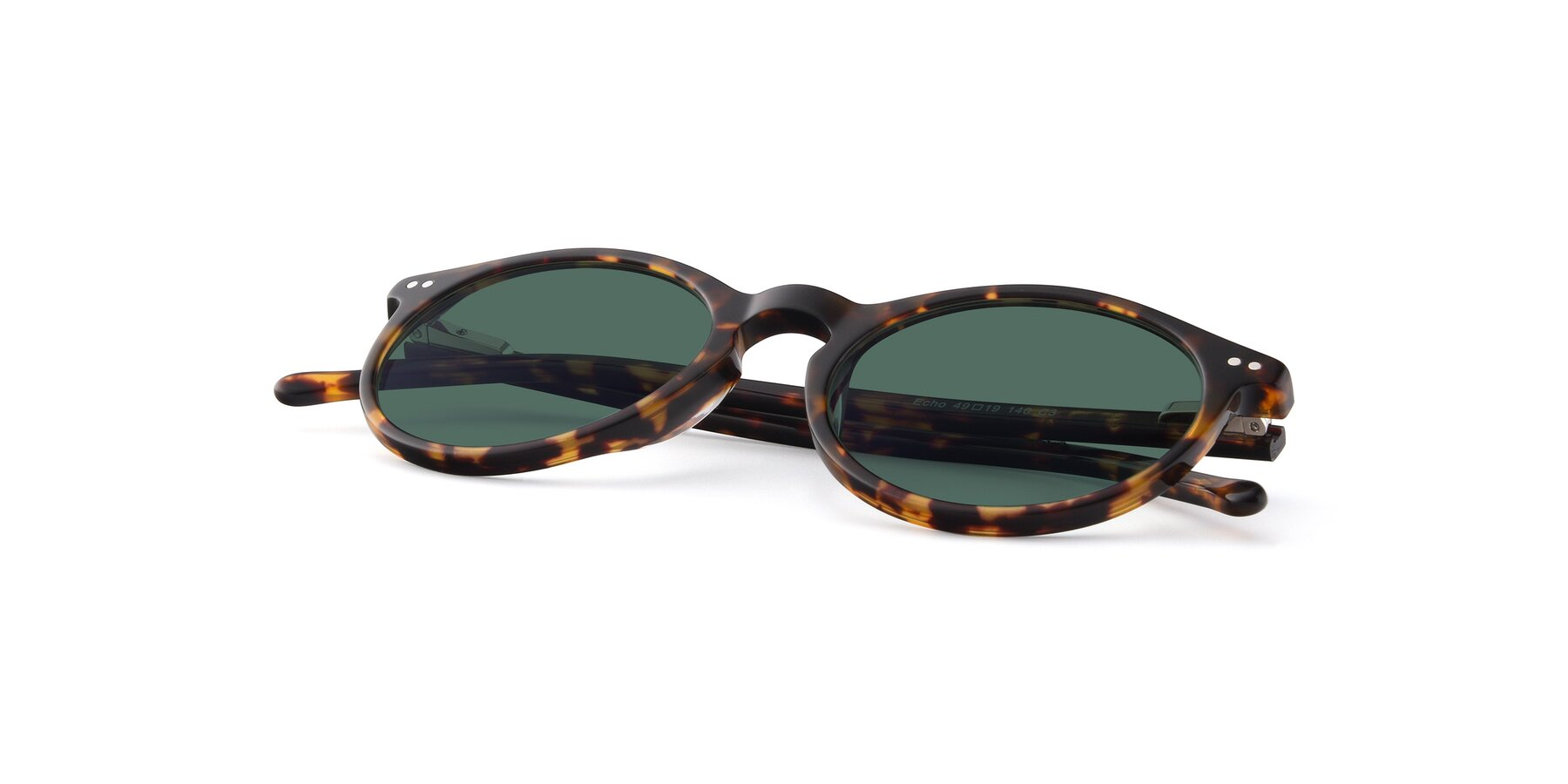 View of JS9026A in Tortoise with Green Polarized Lenses