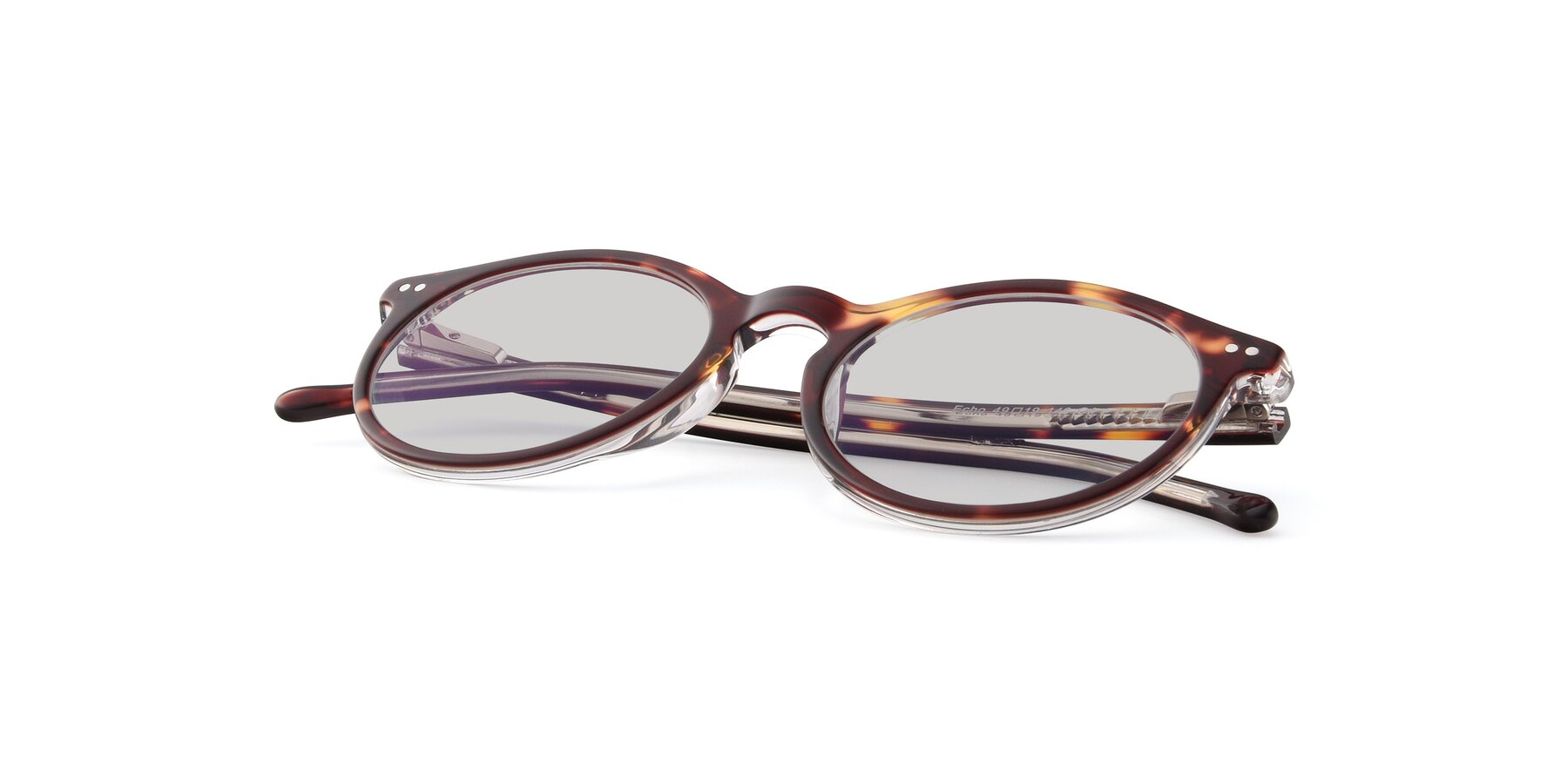 View of JS9026A in Tortoise-Clear with Light Gray Tinted Lenses