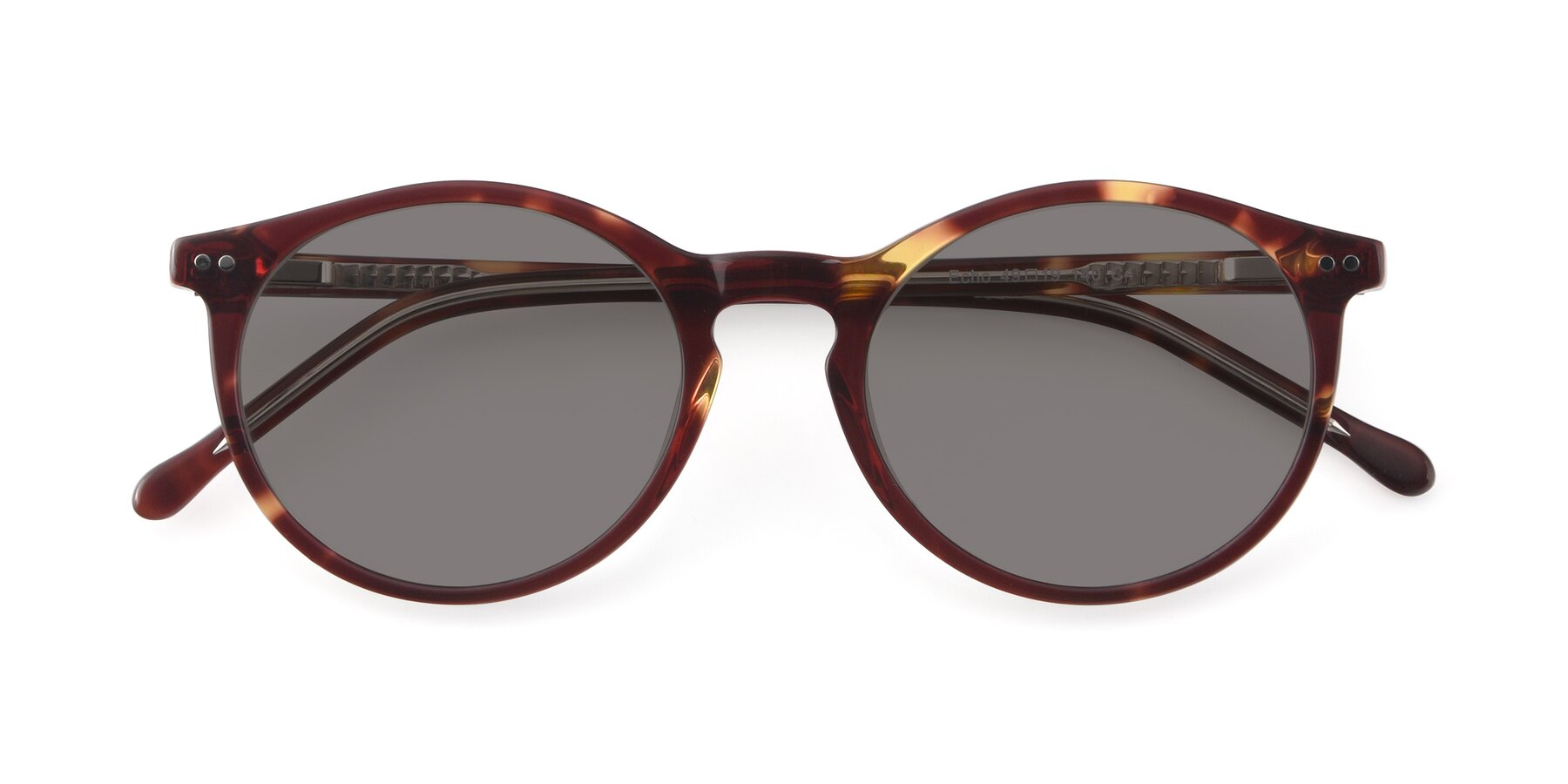 Folded Front of JS9026A in Tortoise-Clear with Medium Gray Tinted Lenses
