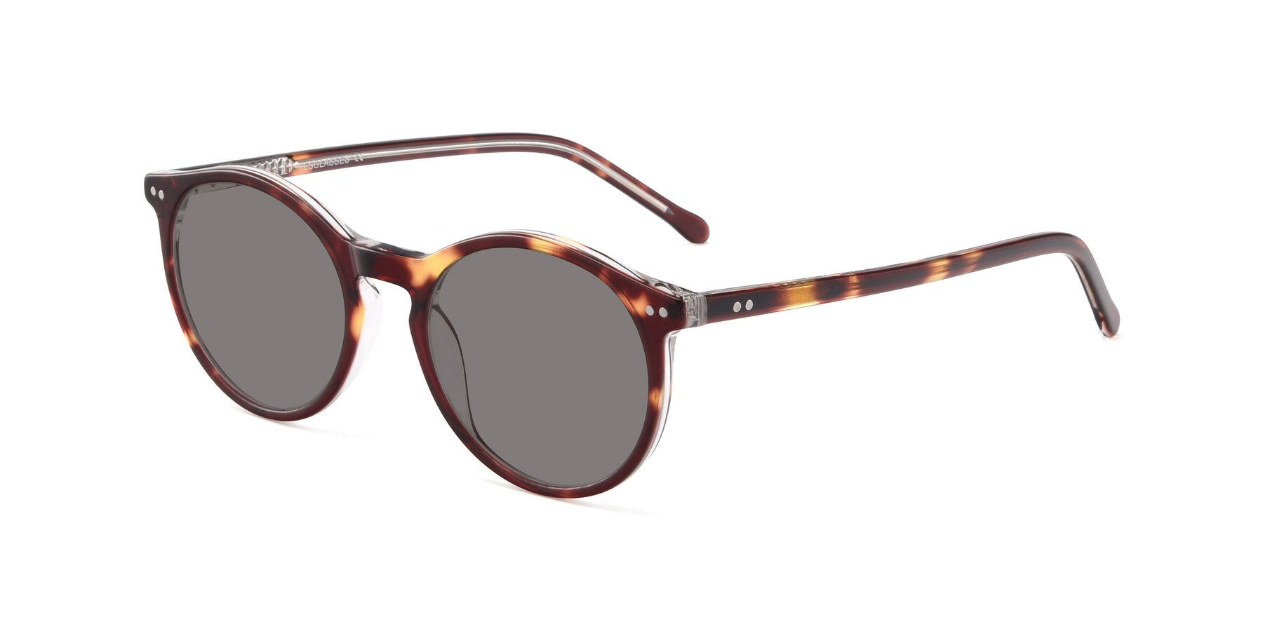 Angle of JS9026A in Tortoise-Clear with Medium Gray Tinted Lenses