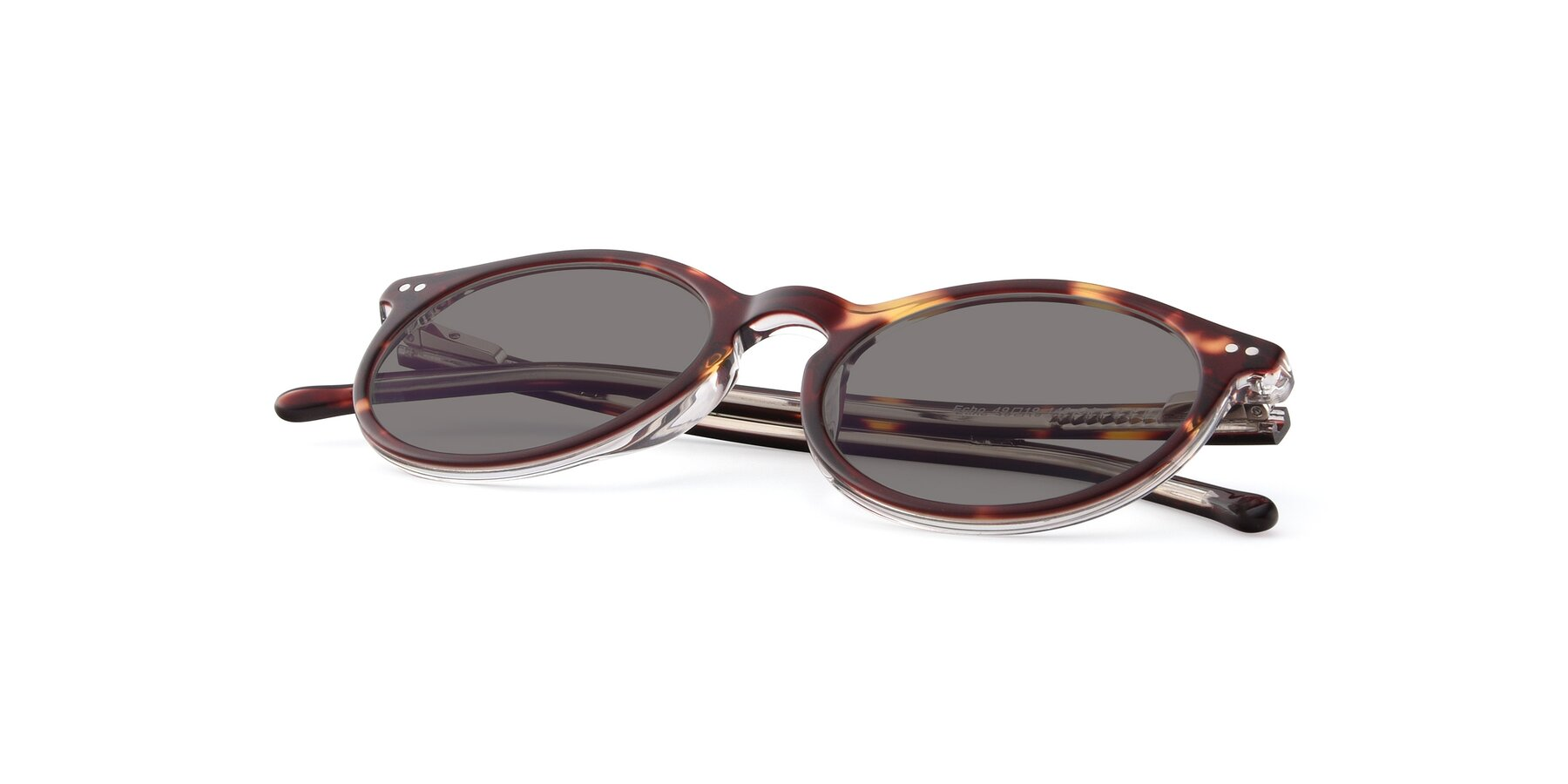 View of JS9026A in Tortoise-Clear with Medium Gray Tinted Lenses