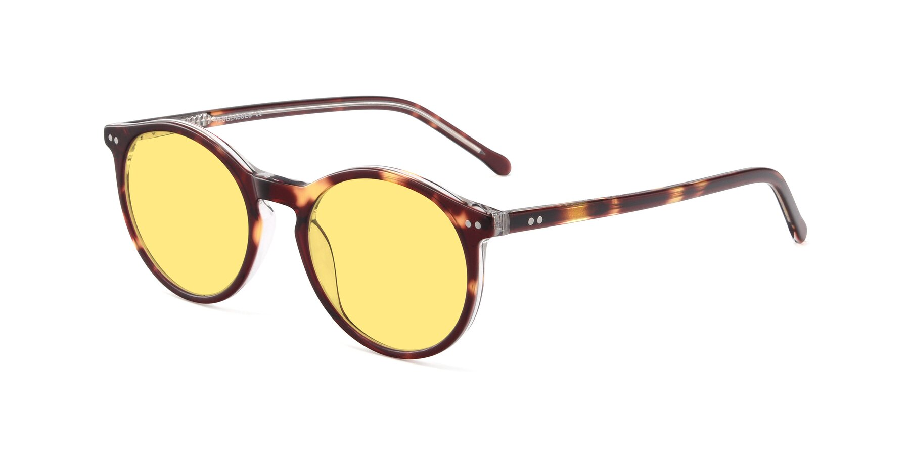 Angle of JS9026A in Tortoise-Clear with Medium Yellow Tinted Lenses