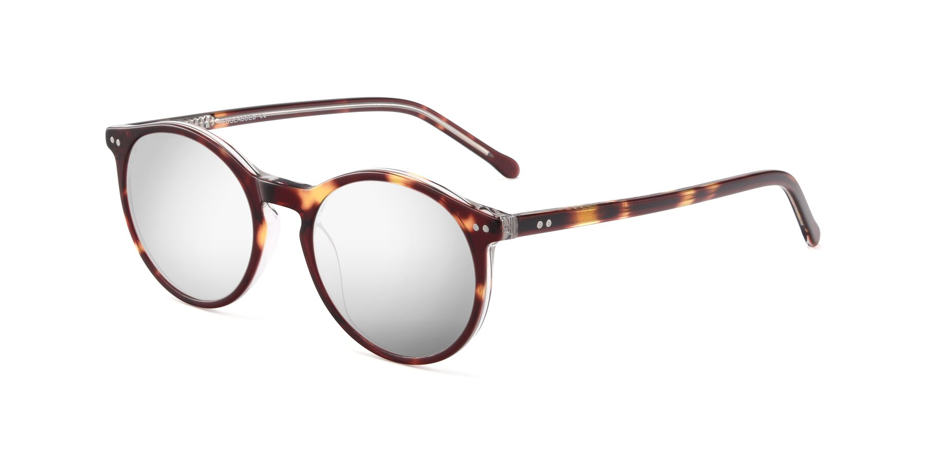 Angle of JS9026A in Tortoise-Clear with Silver Mirrored Lenses