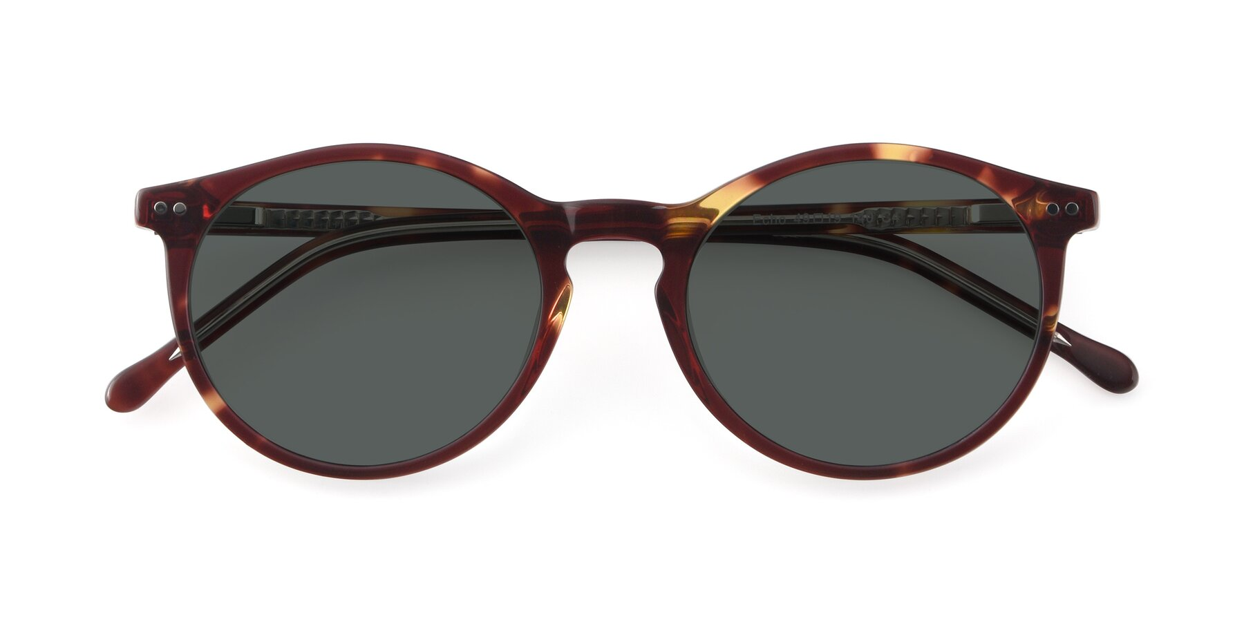 Folded Front of JS9026A in Tortoise-Clear with Gray Polarized Lenses
